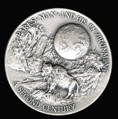 1972 Yellowstone National Park Medal 1.24 ASW Silver 999 Fine