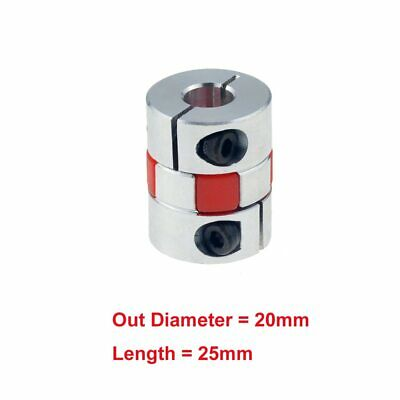 Aluminum Flexible Plum Shaft Motor Coupling CNC Stepper Connector CouplerD20L25