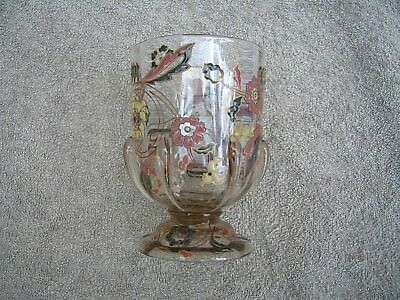 RARE GALLE ENAMELLED GLASS VASE circa 1890 to 1900 with APPLIED GLASS TEARS