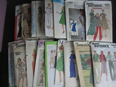 Lot of 15+  Vintage 1970s  1980s Sewing Patterns - Most Sizes 8, 10, 12 - Cut