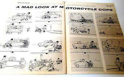 Preliminary Art MOTORCYCLES COPS Sergio Aragones Original MAD Mag #81 9/63