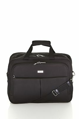 New Lanza Classic Carry On Cabin & Computer Bag Black by-Strandbags
