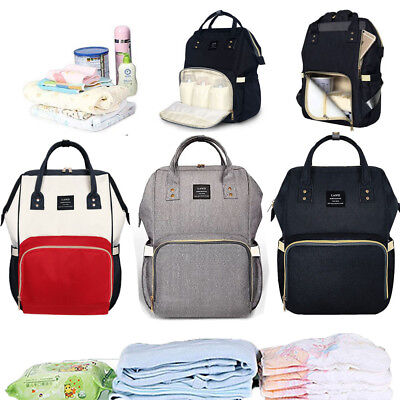 Genuine LAND Mom Backpack Baby Diaper Nappy Multifunction Changing Bag Portable