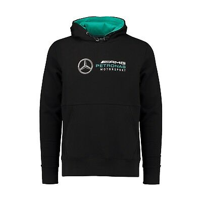Mercedes AMG Petronas Motorsport F1 Men's Hooded Sweatshirt - Black - 2018/19