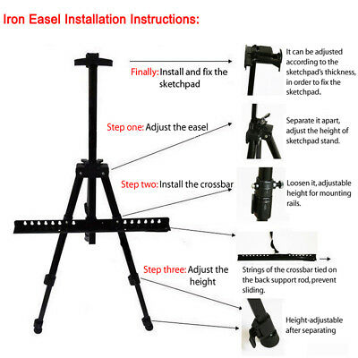 Adjustable Painting Easel Tripod Display Telescopic White Board Stand