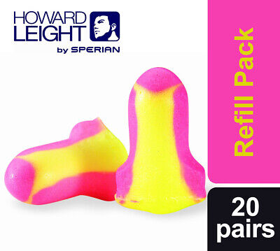 20 Pairs (40 ear plugs) Howard Leight Laser Lite Ear Plugs