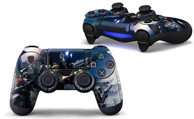 Pair of Vinyl Controller Skins - Space Battle Fight Shoot for PlayStation 4