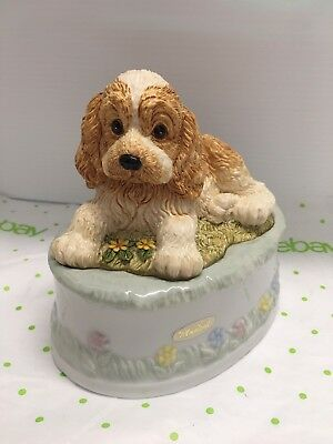 Cocker Spaniel Puppy Dog Music Box The Summit Collection The Entertainer