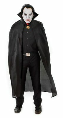 Bristol Novelty AC101 Polyester Dracula Cape, Black, 56-Inch/One Size