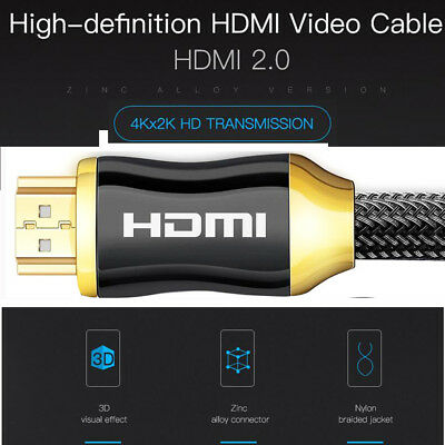 HDMI 4K Cable v2.0 Premium High Speed Video Lead 3D Ultra HD 2160p 10 Meter 1/5M