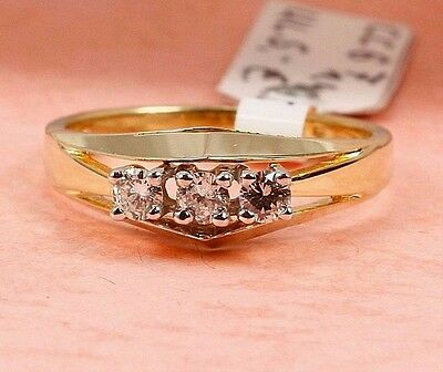 Ring in 585 Gold mit Brillant 0,24 ct. w.vsi