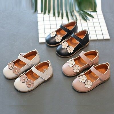 Children Toddler Kids Girls Flower Leather Princess Single Dance Casual Shoes
