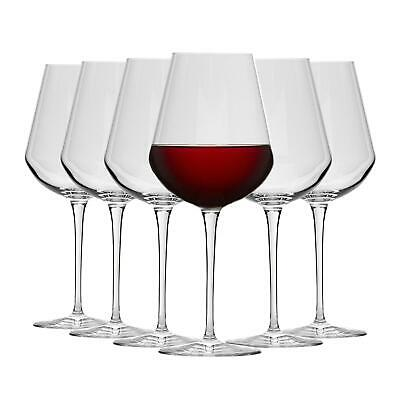 6x Inalto Uno Extra Large Wine Glasses Drinking Barware Red White Stemmed Glass