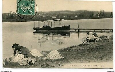 CPA-Carte postale- France - Vichy - Les Bords de l'Allier vers le Pont - 1910