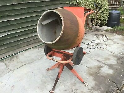 Belle Minimix Mk III Used Cement Concrete Mixer 4/3 cu ft with stand