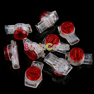 100 X UR2 3-Wire Insulation Displacement Contact IDC Connectors Securely