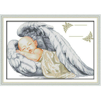 Handmade Counted Cross Stitch Kit Set Embroidery Needlework DIY Little Angel New