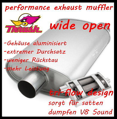 "2,5"" SPORT AUSPUFFTOPF  "" wide open ""  (super dumpfer V8 Sound)"