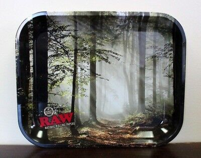 RAW Tree Forest Design Metal Rolling Tray~LARGE~11 x 14~AMAZING~NEW RELEASE
