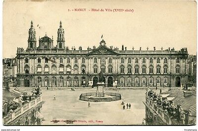 CPA-Carte postale- France - Nancy - Hôtel de Ville - 1909 (CP1225)