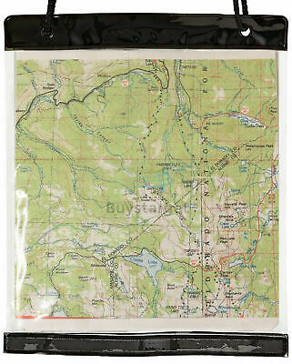 Giant Transparent Clear Military Army Scout Hiking Map Case Holder Cover Sleeve
