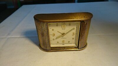 Vintage Swiza Coquet 4 Jewels Swiss Made Alarm Clock  For Spares / Repair