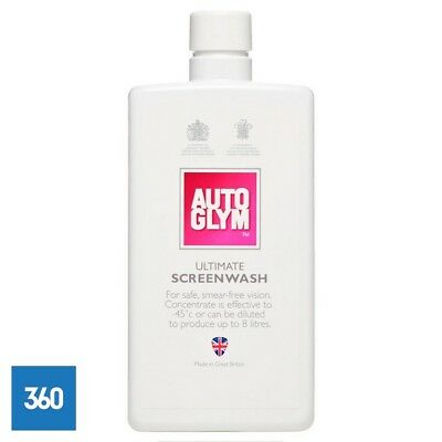 8 x NEW AUTOGLYM ULTIMATE SCREENWASH 500ML WINDSCREEN WASHER CONCENTRATED
