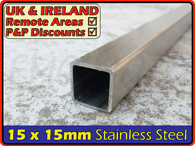Stainless Steel Square Tube ║ 15 x 15 mm ║ box section iron,profile,tubing,pipe