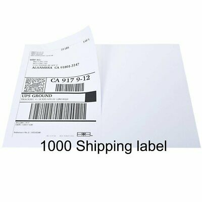 1000 Labels 8.5 x 5.5 Half Sheet Self Adhesive shipping Labels for USPS UPS eBay