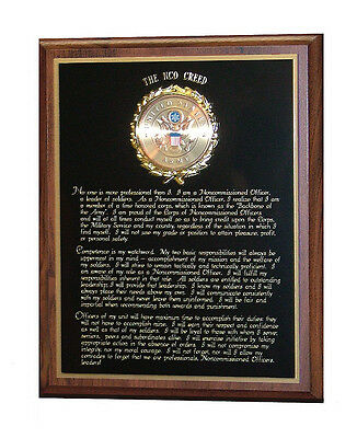 Us Army Nco Creed - Non Commissioned Officer's Creed Wall Plaque - Nice Gift