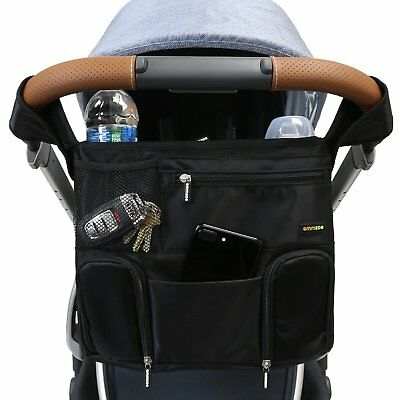 Emmzoe Universal Fit Stroller Organizer All-in-One Travel Insulated Compartments