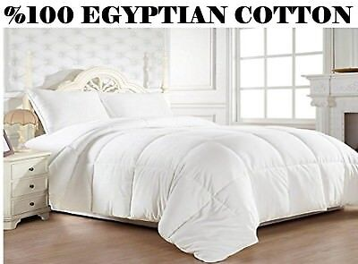 Luxurious Goose Down Alternative Comforter 1200 Thread 100% Cotton King Size Hot