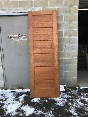 Mar 47 Antique Oak Six Raised Panel Passage Door 30 X 89.75
