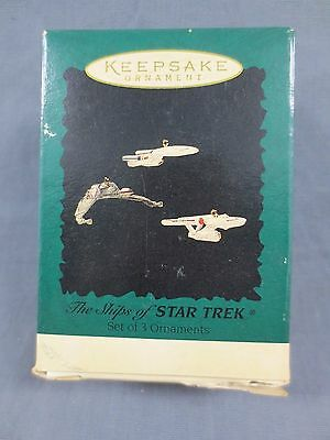 1995 Hallmark Keepsake Ornaments Set of 3 The Ships of Star Trek