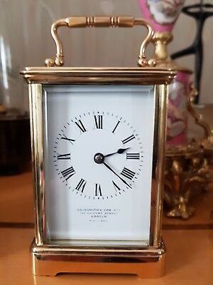 Antique carriage clock by F E Bowden & Sons