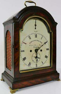 London English Twin Fusee Verge Mahogany 8 Day Bell Striking Bracket Clock 1770