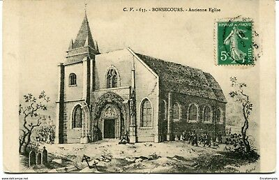 CPA-Carte postale- France - Bonsecours - Ancienne Eglise (CP1231)