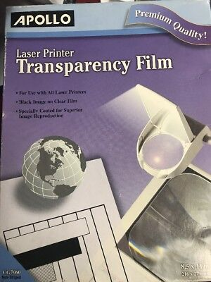 Apollo Laser Jet Printer and Copier Transparency Film, 50 Sheets (CG7060)