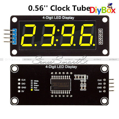 0.56'' TM1637 4Bit Digital LED 7 Segment Clock Tube Display For Arduino Yellow