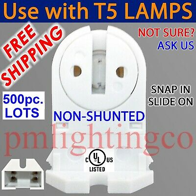 LED//FLUORESCENT SHORT T5 Miniature G5 Bi-PIN LAMP HOLDER LIGHT SOCKET END 483