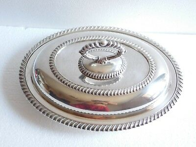 Vintage Silver-plated-on-copper Entree Dish with Lid (#2)