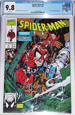 Spider-Man #5 CGC graded 9.8 from Dec 1990 Todd McFarlane story, cover & art