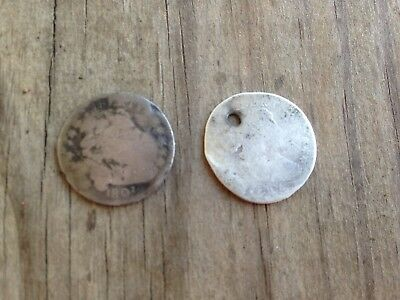 1807 And 1805 Draped Bust Dime.