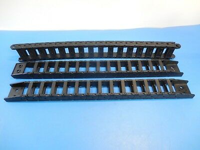Tsubaki TKP0320-3B Cable Carriers w/ Ends & Pisco HPU 206 Cable Carrier Lot of 3