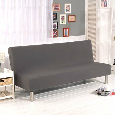 Sofa Bed Cover Elastic Stretch Folding Armless Futon Couch Protector Slipcovers