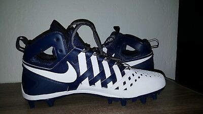 Nike Huarache V LAX Lacrosse Football Cleats Navy/White 807142-410 MEN'S  Sz 12