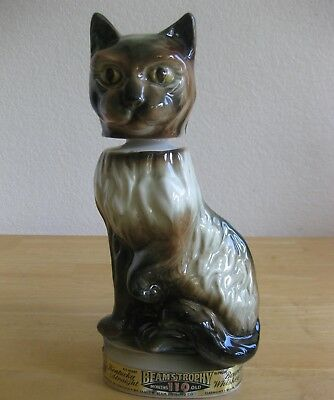 Vintage Jim Beam SIAMESE CAT Whiskey DECANTER Liquor Bottle