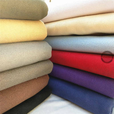 340gsm Heavy Canvas 100% Cotton Fabric Upholstery Curtain Quilt Craft Material