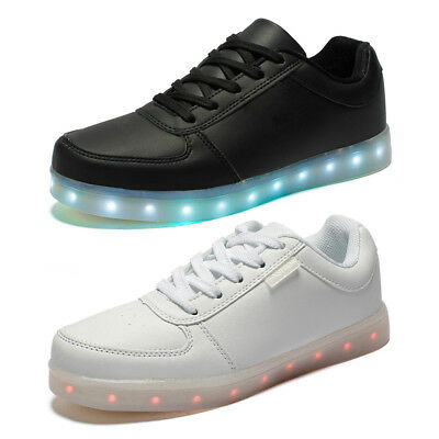 Unisex 7 LED Light Luminous Shoes Casual Couple Shoes Lace Up Sportswear Sneaker