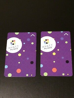 Hyatt Place Hotel Room Key Card - 2 Key Set